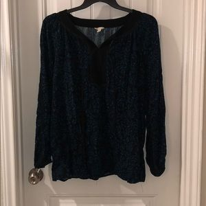 Cato Blue and Black Blouse 18/20